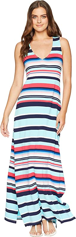Tommy Bahama Sporting Stripe Maxi Dress Cover-Up