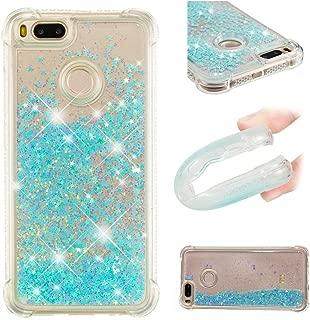 Xiaomi Mi 5X Case, Xiaomi Mi A1 Case, Ranyi [Liquid Glitter Case] [360 Full Body Protection] [Shock Absorbing] Flowing Liquid Floating Glitter Quicksand Case for Xiaomi Mi 5X / Mi A1 (Blue Star)
