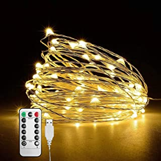 Decorative String Lights for Outdoor Indoor Wall or Christmas Tree - USB Powered with Smart Warm White Mode - Christmas Decorative Lights for your Home and Office - Holidays, Party, Events Decoration