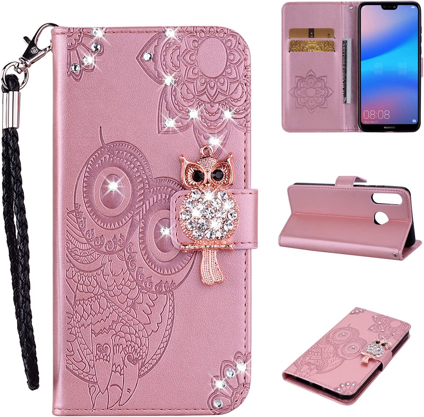 Strap Diamond Wallet Superior Case for Huawei Lite Aoucase P30 Max 55% OFF Luxury 3D