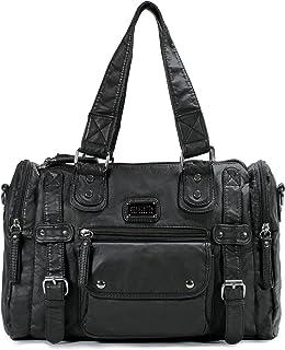Scarleton Satchel Handbag for Women, Ultra Soft Washed Vegan Leather Crossbody Bag,..