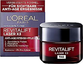 L'Oréal Paris Revitalift Laser X3 Dagverzorging, anti-aging gezichtsverzorging met 3-voudige werking, met hyaluronzuur, 50 ml