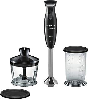 Bosch MSM2610B CleverMixx Mixeur à main à 4lames Noir/gris 600W Blender + hachoir Única Noir