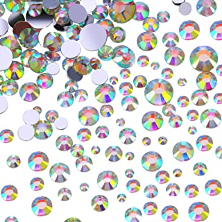 Flatback Strass Crystal Gemmes Diamants de Dos Plat, 4 Tailles, 800 Pièces