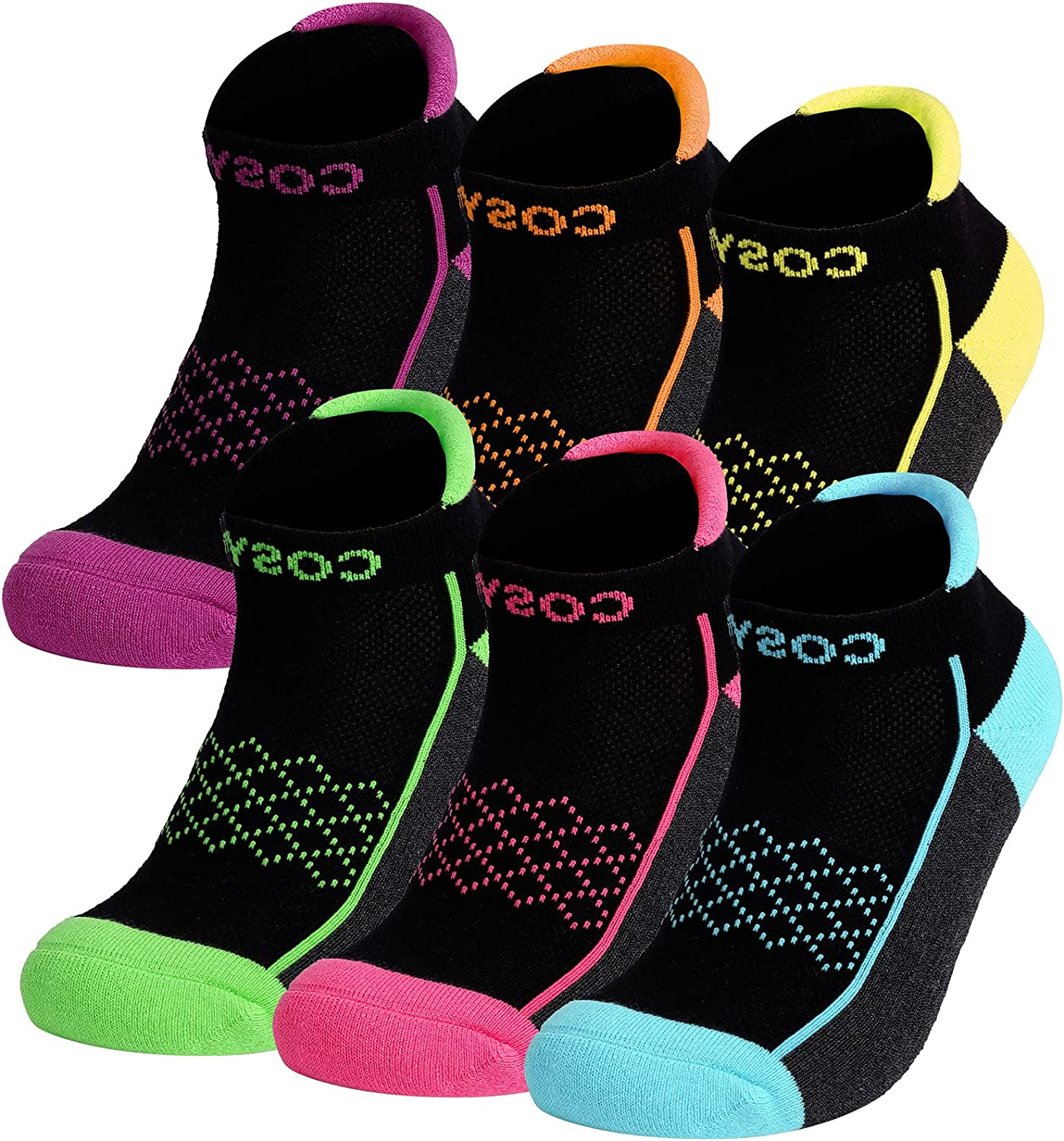 COSYOO Womens Athletic Ankle Socks: 6 Performance Pairs Max 40% Al sold out. OFF Cushione