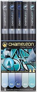 Chameleon Art Products, Coloring Book, Blends Multiple Tones, Blue Tones - 1 Pack of 5