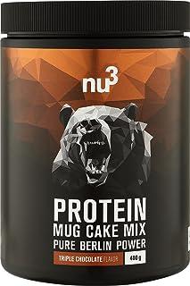 nu3 Protein Mug Cake Mix - 400 g Triple Chocolate Backmischung - 24 g Protein pro Portion - Schoko-Tassenkuchen - Fitness Food zum Naschen - Eiweiß ohne unnötige Zusätze - schnelle Zubereitung