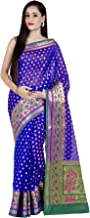 Chandrakala Women`s Cotton Silk Blend Indian Ethnic Banarasi Saree with Unstitched Blouse Piece(1247)