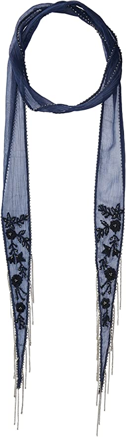 Floral Long Skinny Scarf