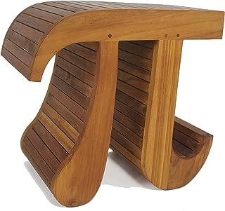 AquaTeak Patented Pi-Shaped Teak Bench