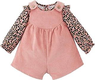 Mud Pie baby-girls Leopard Overall Short Set