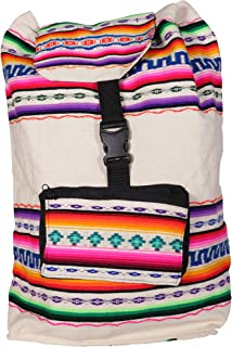 Mandina Fine Wools/White-Andean Motifs Cotton Fabric Multipurpose Backpack