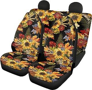 $45 » Sponsored Ad - Belidome Autumn Maples Car Seat Covers for Women Soft Stretch Auto Decor Universal Fit SUV Van Sedan