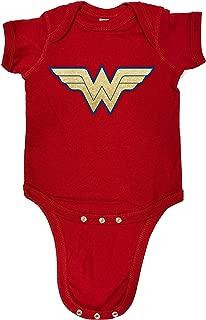 Devious Apparel Wonder Woman Glitter Cute Baby Bodysuit, Creeper, Humorous, Romper