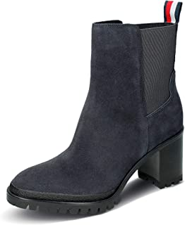 Tommy Hilfiger Sporty Mid Heel Chelsea, botines Femme