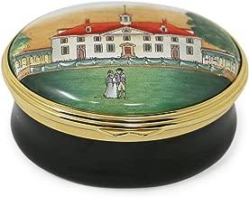 George Washington's Mount Vernon Black Halcyon Days Enamel Box