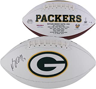 Davante Adams Green Bay Packers Autographed White Panel Football - Fanatics Authentic Certified - Autographed Footballs