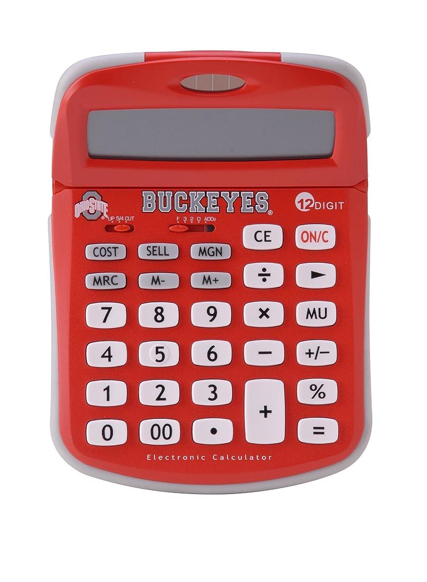 きらめき非互換補体Collegiateシリーズ00504?Ohio State solar-powered電卓学校ロゴとカラーで