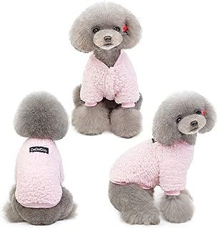 DYAprWu Warm and Comfy Sherpa Fleece Sweatshirt Hoodies for Small/Medium Dogs