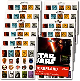 Star Wars Stickers Party Favors Pack Featuring Kylo Ren, Rey, Captain Phasma, Stormtroopers, BB-8, and More! by Stickerland