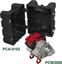 Portable Winch Co. PCW3000-CK 1550-lb. Gas-powered Portable Capstan Winch with Transport Case