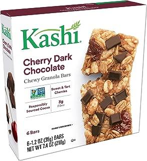Kashi Chewy Cherry Dark Chocolate Granola Bars - Vegan | 6/1.2OZ Pack of 8