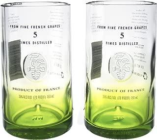 Ciroc Apple Vodka Reclaimed Bottles Glassware Barware Drinkware Tumbler Glasses Gift Set