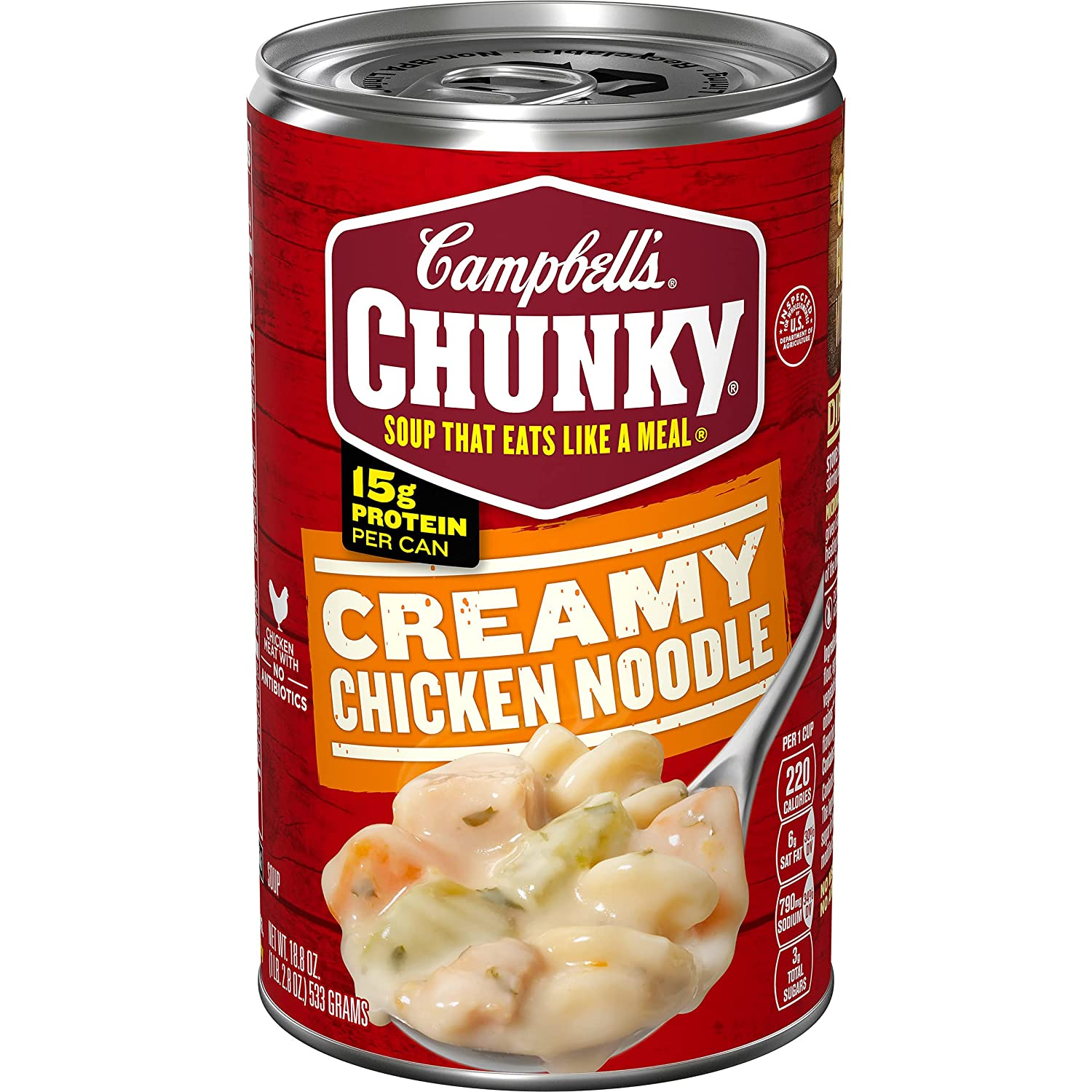 Campbell's Chunky Soup, Creamy Chicken Noodle, 18.8 oz