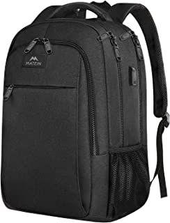 Business Travel Backpack, Matein Laptop Backpack with USB Charging Port for Men Womens..