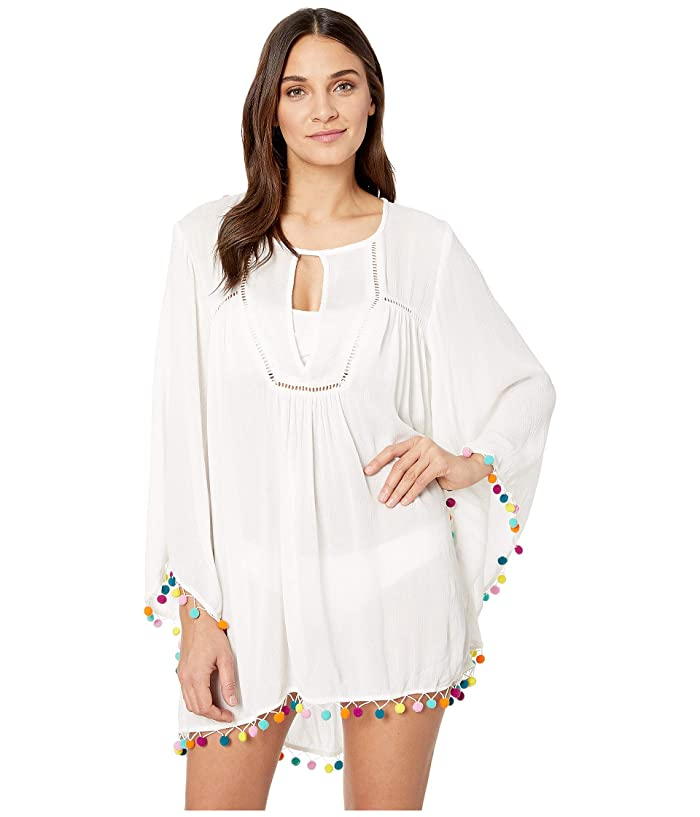 Nanette Lepore Jazzy Covers Open Back Tunic Cover-Up (White) Women