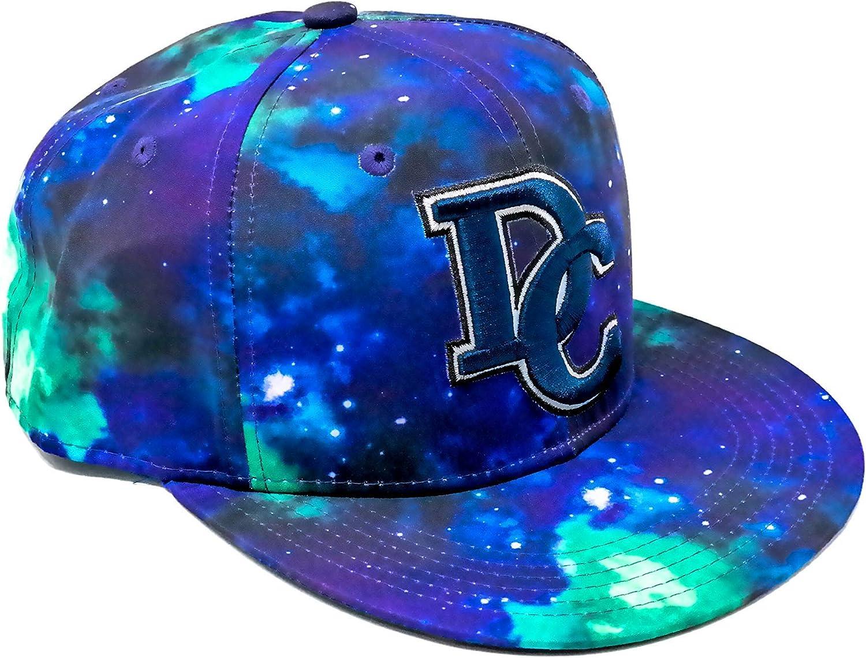 Galaxy Washington DC Hat Snapback Baseball Cap Flat Bill Blue
