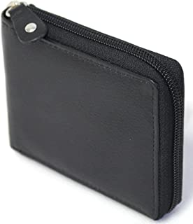 florentino Men's RFID Security Lined Zip-Around Leather Wallet Full Grain Cow Hide Leather. 11011