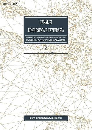LAnalisi Linguistica e Letteraria 2012-2
