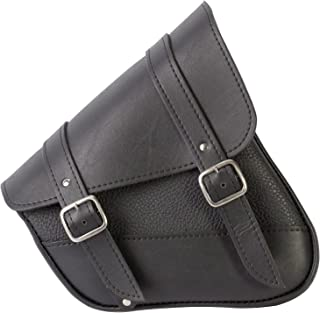 Dowco Willie & Max 59778-00 Synthetic Leather Swingarm Bag: Black, Fits Dual Shock Bikes/Sportster/Yamaha Bolt, 9 Liter Capacity