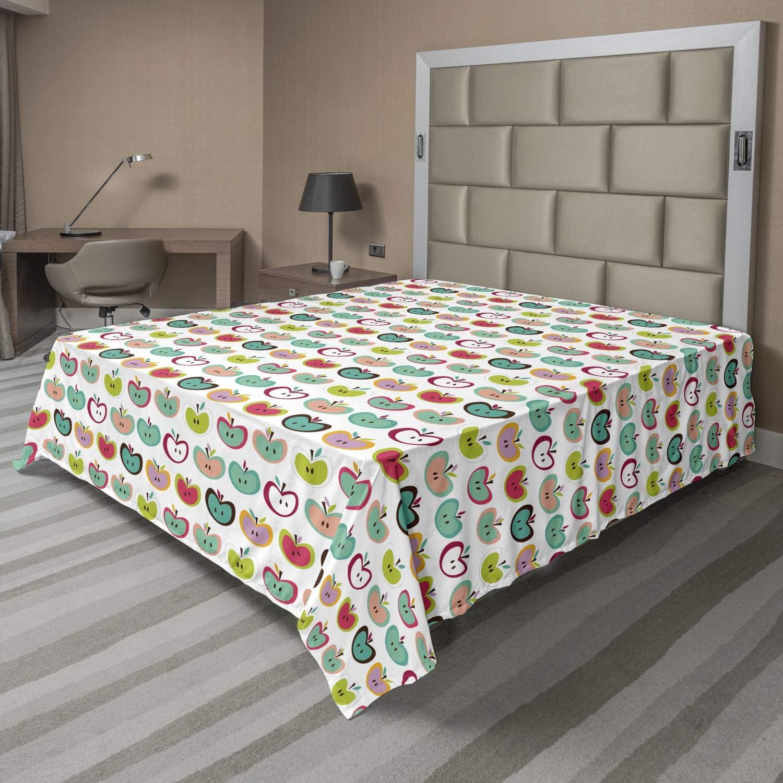 Ambesonne Fruits Flat Sheet Retro Indefinitely Fruit Illustration Yout free shipping Style