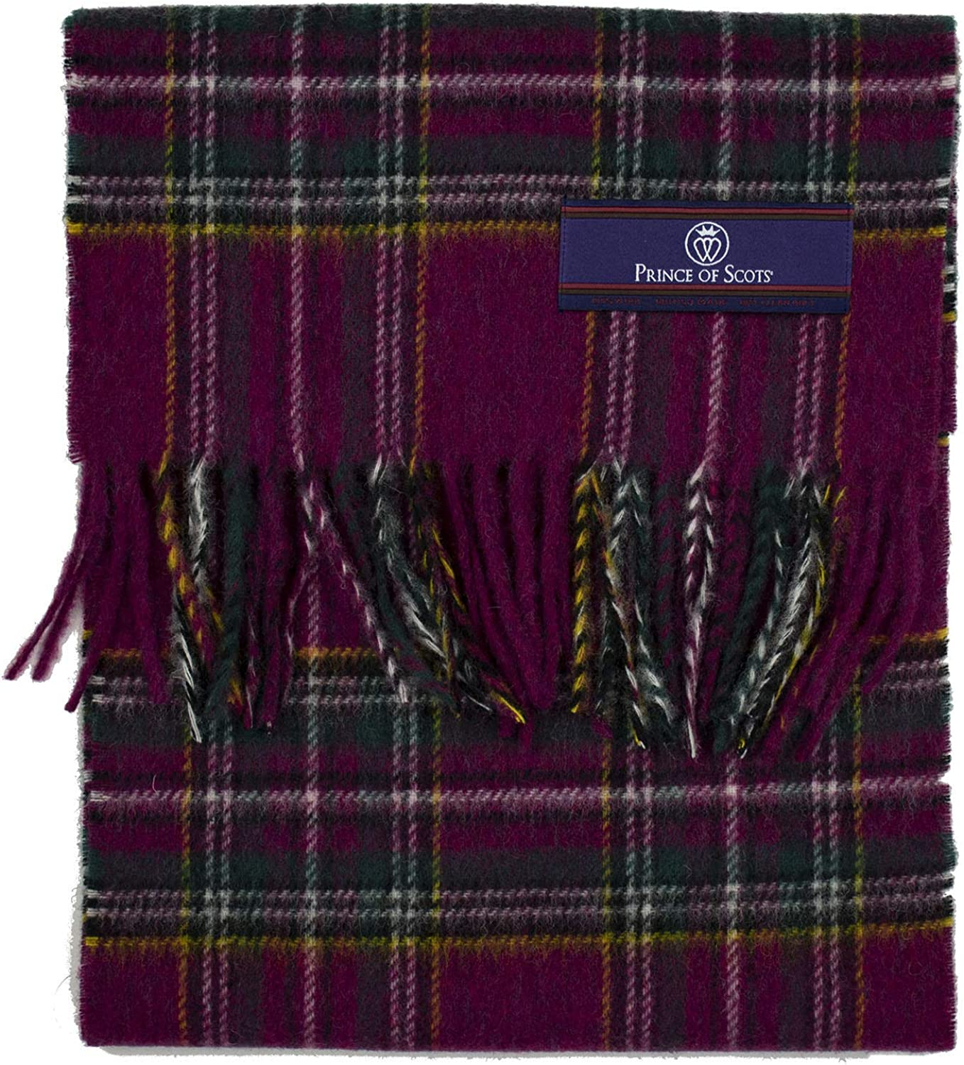 Prince of Tucson Mall Scots Heritage Plaid Scarf Wool Merino Fringed Reservation