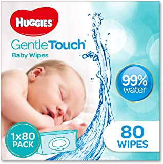 HUGGIES Gentle Touch Baby Wipes, 80 Pack