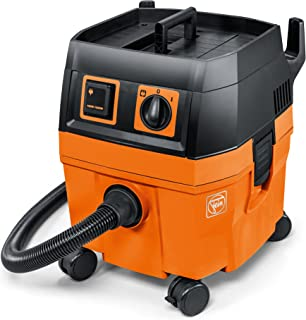 FEIN Turbo I Vacuum Cleaner, 5.8 Gallon, 1100W | Includes: 13 ft Suction Hose, Tool Coupling with Suction Power Control, Cellulose Filter, 1 Fleece Filter Bag