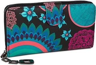 styleBREAKER portafogli con fiori e etnici e design colorato, design vintage, chiusura con cerniera, portamonete, donna 02...