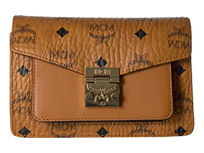 MCM Patricia Visetos Belt Bag Xmini (Cognac) Handbags