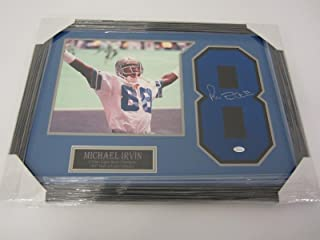 Michael Irvin Autographed Jersey - framed matted number COA - JSA Certified - Autographed NFL Jerseys