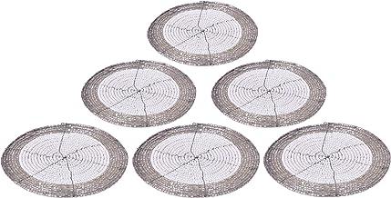 إليت ديكوريو واقيات أكواب مصنوعة يدويًا هندية من الخرز إكسسوارات طاولة الطعام، ديكور المنزل الريفي مجموعة من 6 قطع