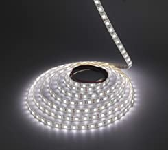 LEDMY Led Strip Lights, 16.4ft Led Light Strip 5050 Led Tape Lights, DC12V, 72W, 300LEDs,IP62 Easy Waterproof, Cool White ...