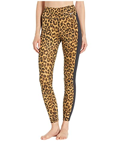 Nike All-In Leopard 7/8 Tights (Club Gold/Black/White) Women