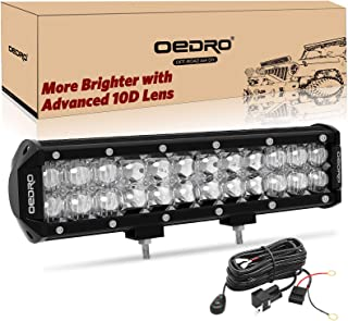 LED Light Bar, oEdRo 12Inch 135W 11240LM with Advanced10D Fish Eyes Lens, Spot Flood Combo Lights Bar with Wiring Harness IP68 Grade Work Lights Off Road Light Fit for Pickup Jeep SUV 4X4 ATV UTE etc