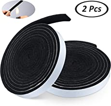 BBQ Gasket Black Smoker Grill Tape High Temp Grill Seal Self Stick Gasket, 7.5 Ft Length 1/8 Inch Thickness (2, 0.5 Inch Wide)