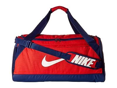 Nike Brasilia Medium Duffel Bag (University Red/Blue Void/White) Duffel Bags