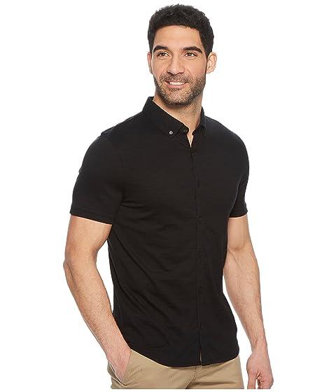 Slub Negro Polo Shirt Calvin Coatfront Klein Knit wtqFzg