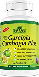 Garcinia Cambogia Extract 60% HCA By Alfa Vitamins. Helps Reduce Appetite. Supports the Weight Loss Diet. 100 Count 1200mg...