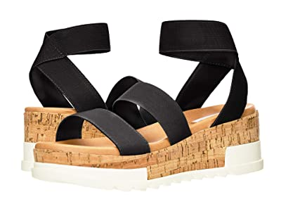 Steve Madden Bandi Wedge Sandal (Black) Women